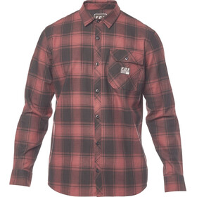 Fox Voyd Flannel Shirt Men bordeaux